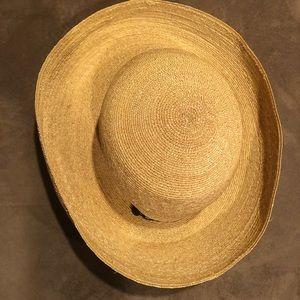 Annabel Ingall Straw Beach Sun Hat Rolled Brim